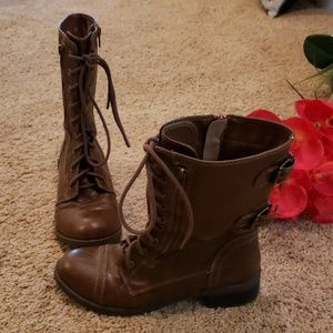 Soda Brown Combat boots Size 8